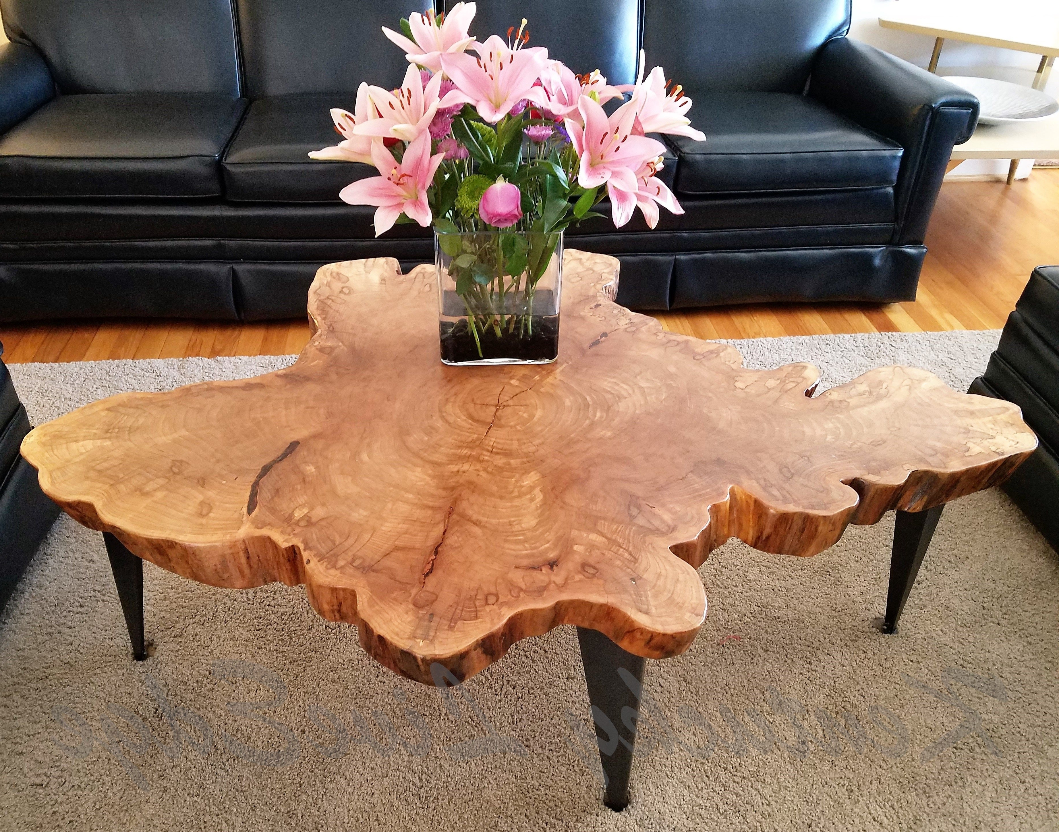 Widely Used Sliced Trunk Coffee Tables With Regard To Custom Large Tree Slice Coffee Table  Live Edge Table  Round Coffee (View 20 of 20)