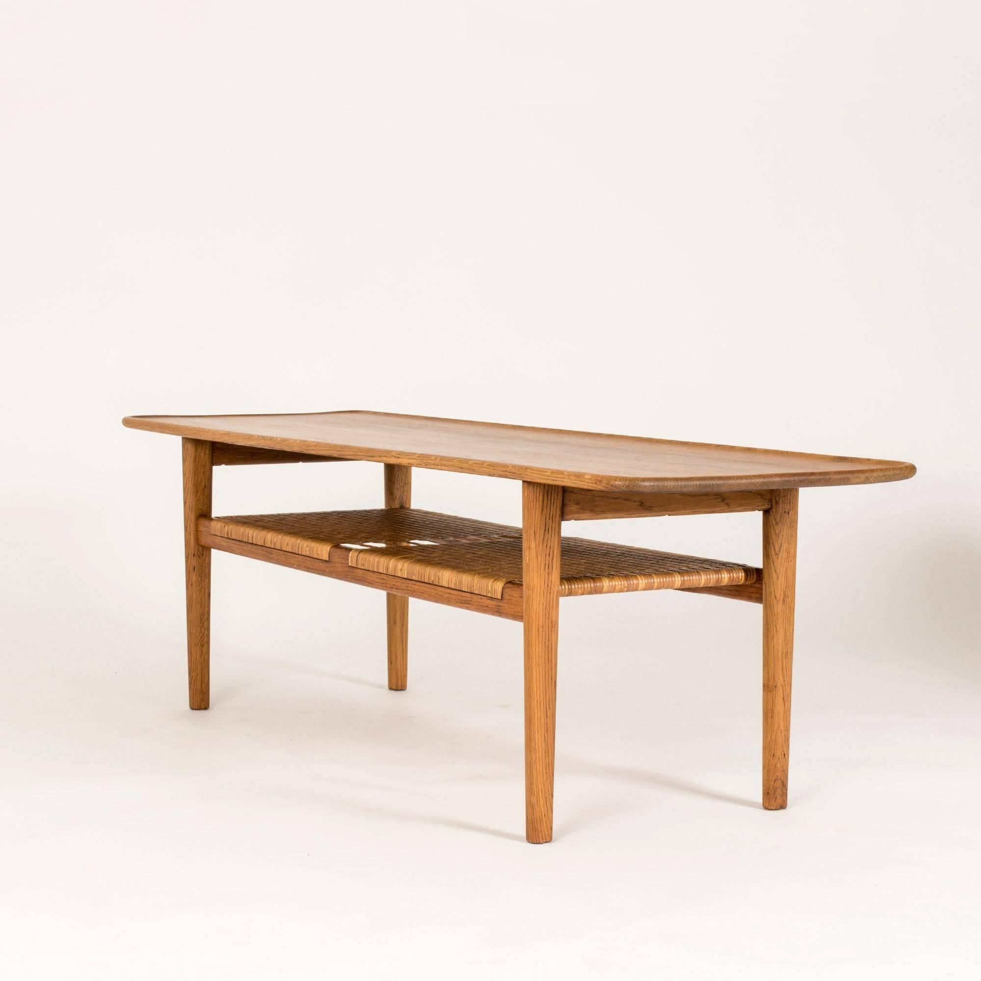 Widely Used Smoked Oak Coffee Tables With Regard To Smoked Oak And Rattan Coffee Tablehans J (View 19 of 20)