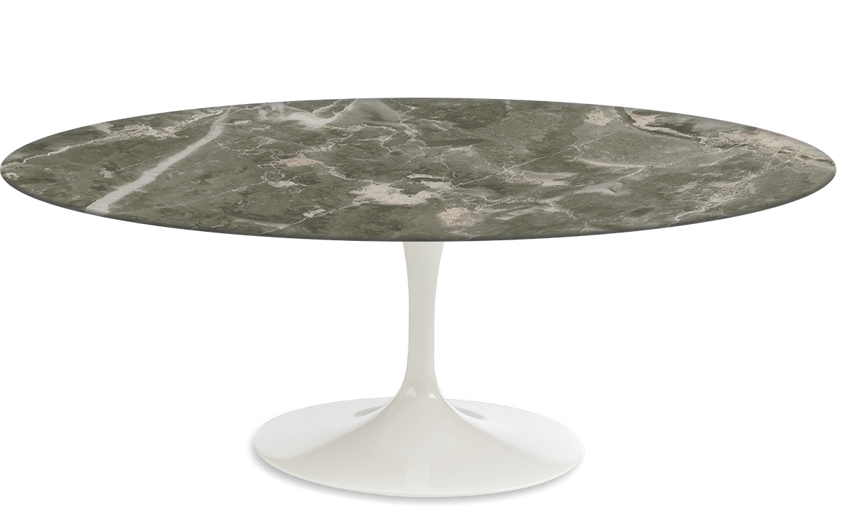 Widely Used Suspend Ii Marble And Wood Coffee Tables Pertaining To Saarinen Coffee Table Grey Marble – Hivemodern (View 15 of 20)