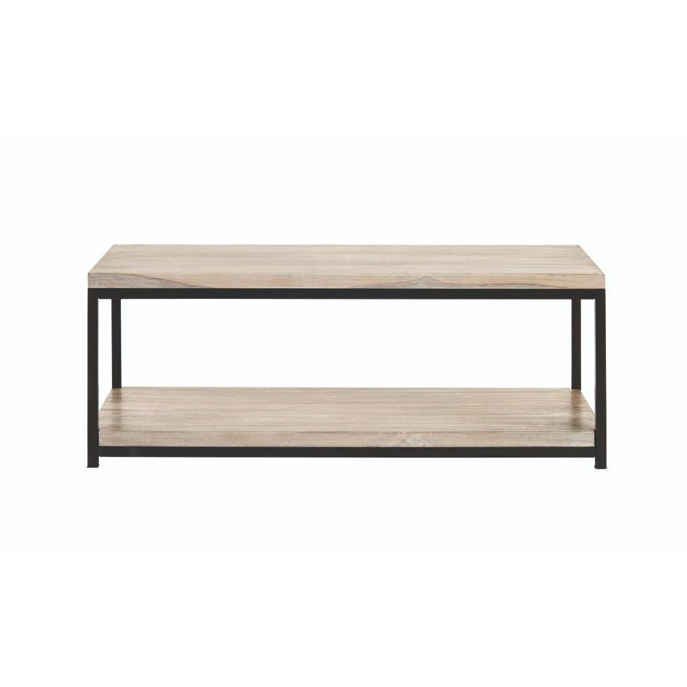 Widely Used White Wash 2 Drawer/1 Door Coffee Tables Throughout Home Decorators Collection Anjou Natural Coffee Table  (View 20 of 20)