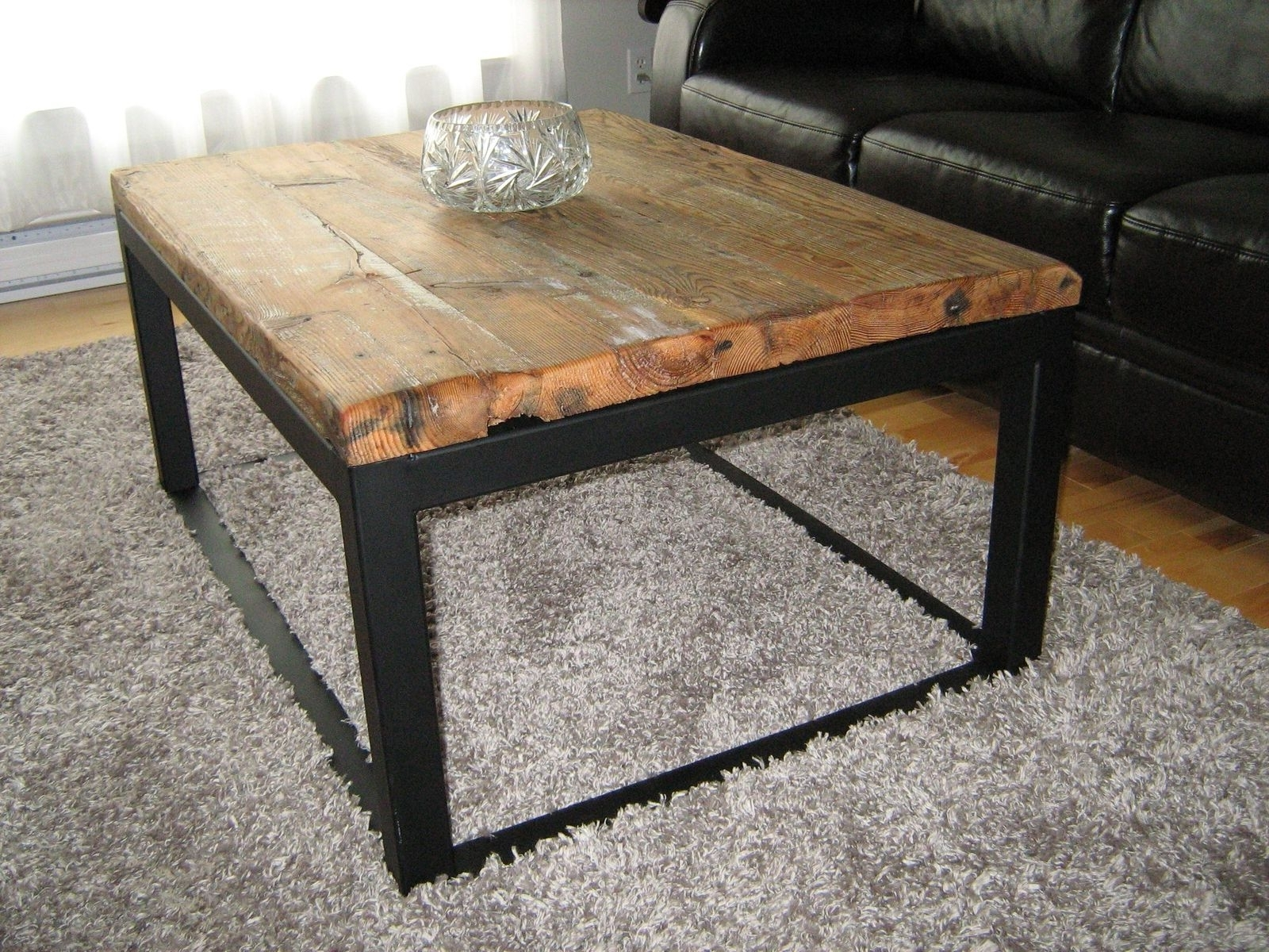 Wood And Metal Coffee Table Awesome – Thelightlaughed Within Preferred Iron Wood Coffee Tables With Wheels (View 9 of 20)