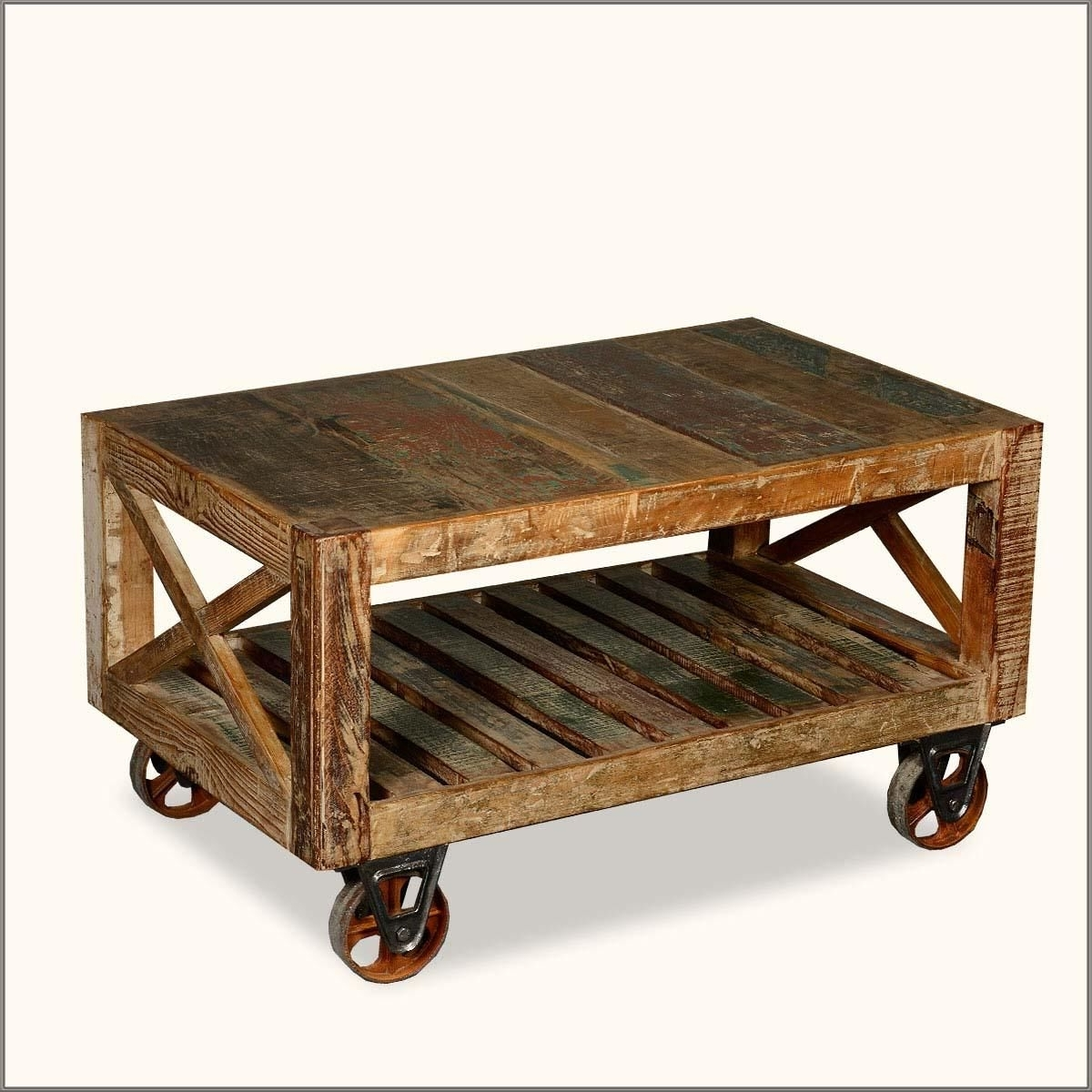 Wood And Metal Coffee Table (View 6 of 20)