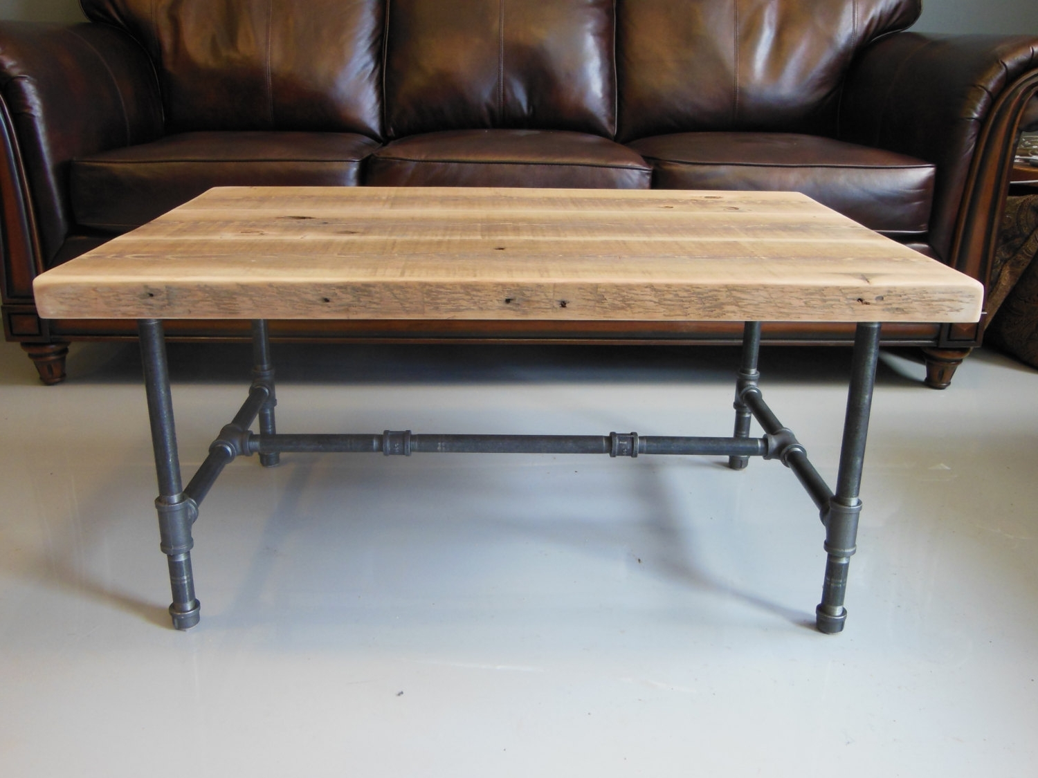 Wood Coffee Table Legs Industrial – Thelightlaughed Within Most Recently Released Iron Wood Coffee Tables With Wheels (View 5 of 20)
