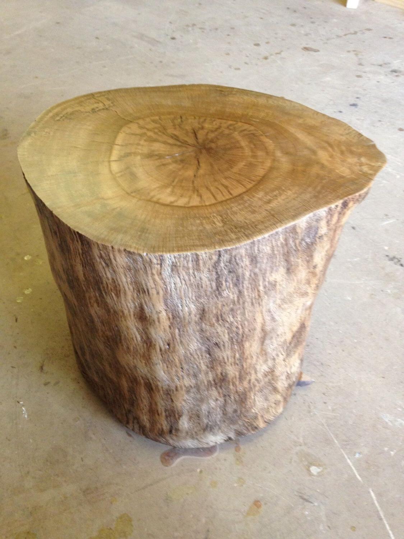 Wood Stump – Wood Stump Side Table – Wood Coffee Table – Tree Stump Pertaining To Popular Moraga Barrel Coffee Tables (View 19 of 20)