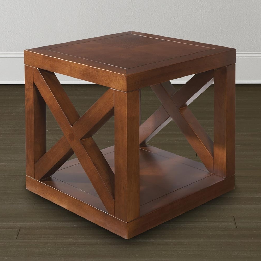 Wooden Motif Designed Cube Table (View 20 of 20)