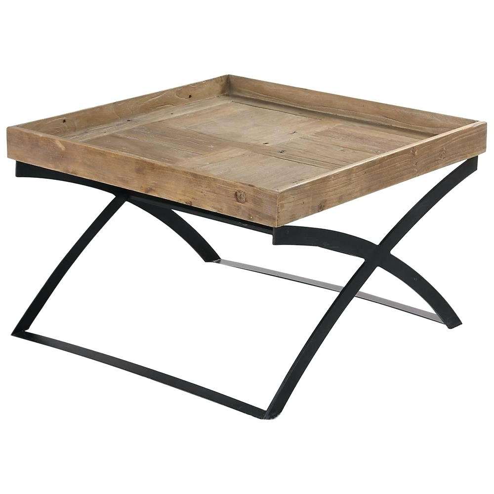 X Frame Coffee Table Rustic Lodge Reclaimed Elm Iron Home West Box For Most Recently Released Reclaimed Elm Iron Coffee Tables (View 14 of 20)