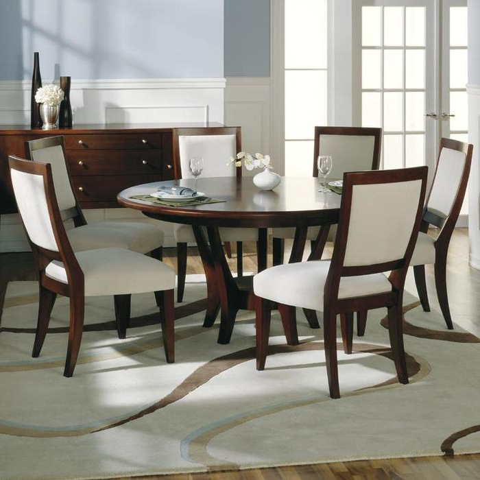 1. Dining Tables Captivating 6 Seat Round Dining Table 6 Person Pertaining To Favorite Round 6 Person Dining Tables (Gallery 2 of 20)