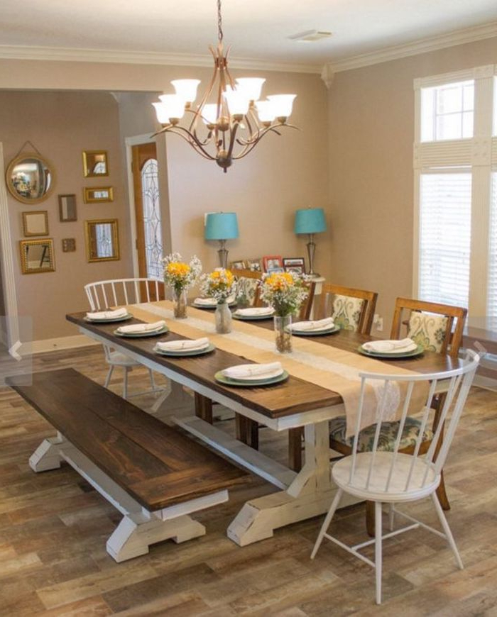 1. Dining Tables Farm Style Dining Table Rustic Farmhouse Dining Inside 2017 Farm Dining Tables (Gallery 13 of 20)