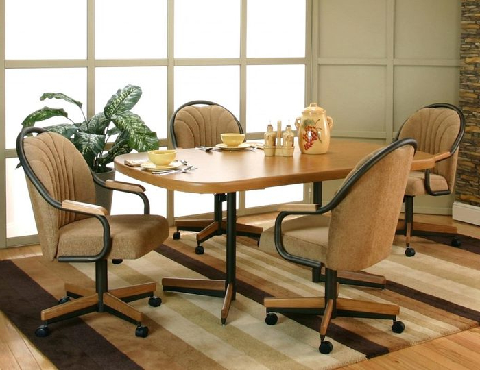 1. Faux Leather Dining Chairs Modern Dining Room Chairs Leather Inside Famous Ebay Dining Chairs (Gallery 13 of 20)