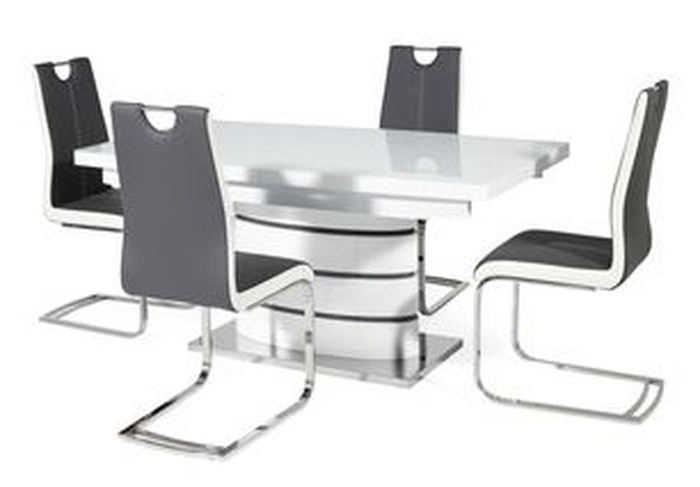 1. New Soho White Dining Table And 4 Chairs Pertaining To Most Recently Released Scs Dining Furniture (Gallery 7 of 20)
