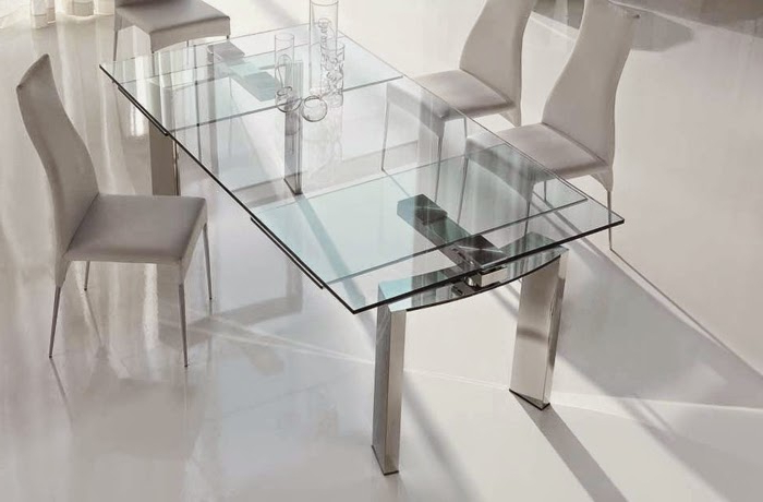 10 Extendable Dining Tables Of Glass, Wood And Plastic Throughout 2017 Glass Folding Dining Tables (View 6 of 20)