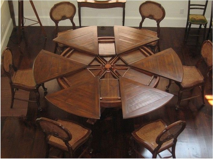 10. Magnificent Stylish Dining Room Tables With Leaves Dining Table Inside Popular Huge Round Dining Tables (Gallery 5 of 20)