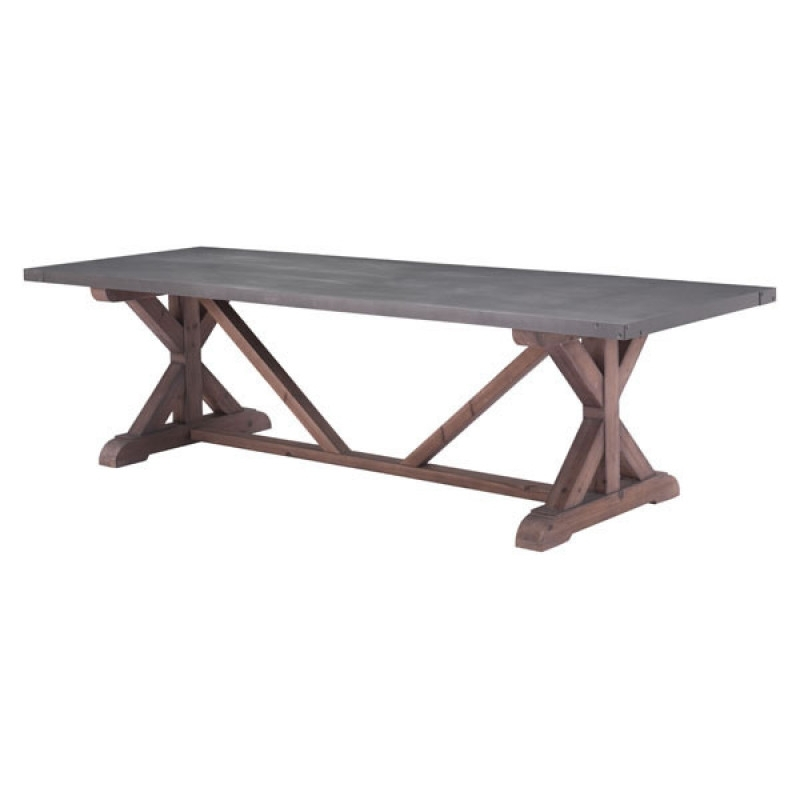 100500 – Durham Dining Table Gray & Distressed Fir Pertaining To Fashionable Chapleau Side Chairs (View 17 of 20)