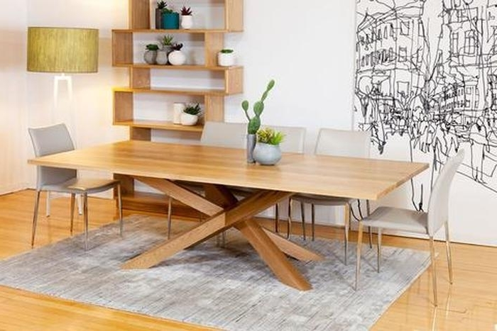 11. Spinifex Solid American Oak Dining Table With Contemporary Base Pertaining To Famous Contemporary Base Dining Tables (Gallery 12 of 20)