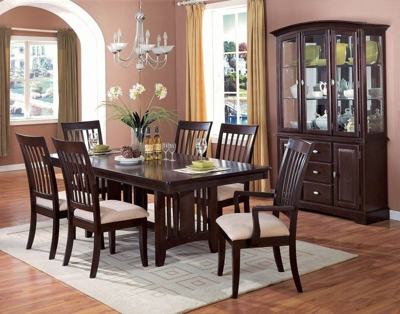 12 Seat Dining Table Extendable Rectangle Brown Classic Varnished With Current Natural Brown Teak Wood Leather Dining Chairs (View 17 of 20)