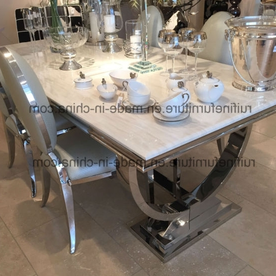 13. Limitless Home Round Dining Set With 4 White Chairs Amazon Co Uk In Recent Chrome Dining Sets (Gallery 15 of 20)