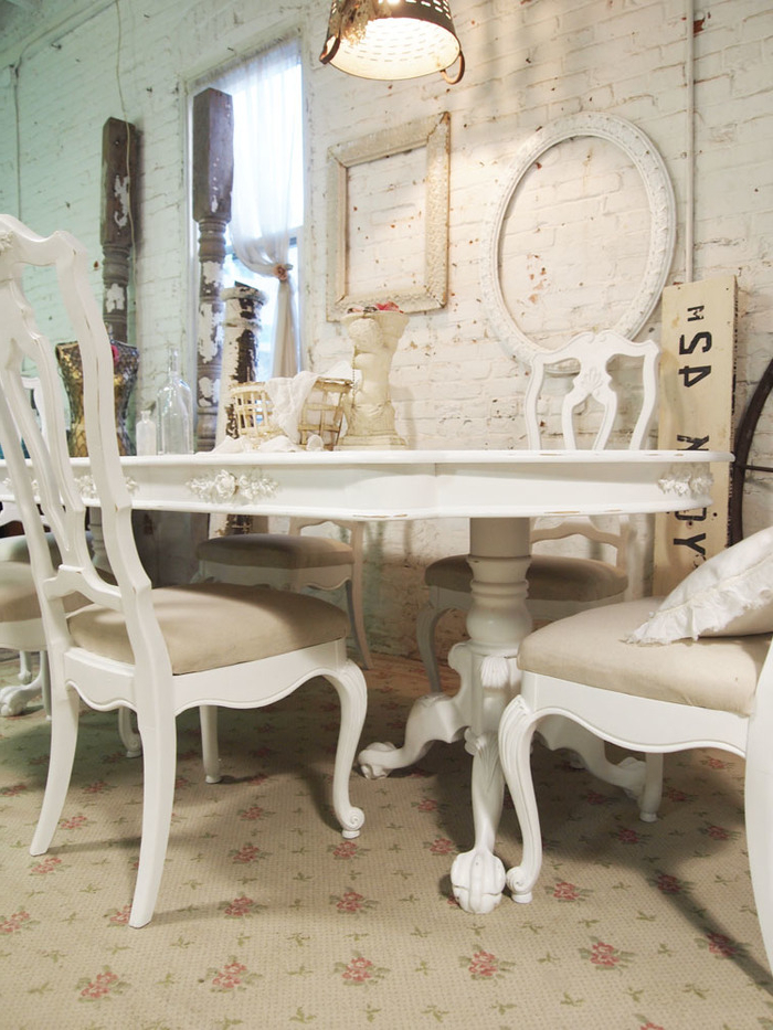 14. White Shabby Chic Dining Table Large And Beautiful Photos Photo With Regard To Most Recent Shabby Chic Dining Sets (Gallery 9 of 20)