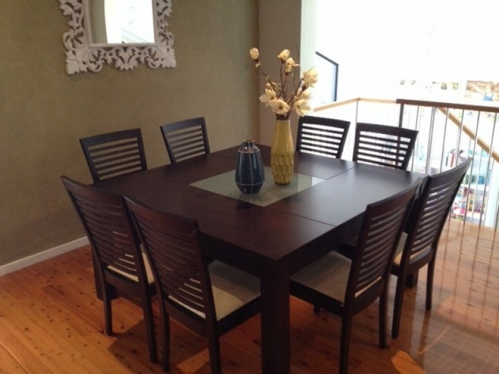 15. Brown 8 Seater Dining Table Set Regarding 2017 8 Seater Dining Table Sets (Gallery 8 of 20)