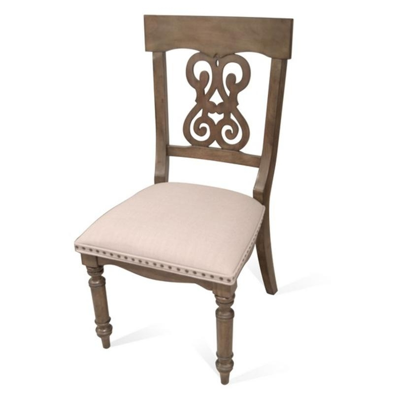 15857 Riverside Furniture Scroll Upholstered Side Chair 2In – Oak In Popular Belmeade Side Chairs (View 1 of 20)