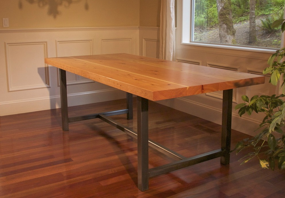 16. Dining Tables With Metal Legs Table Legs Pinterest Legs Iron And With Newest Dining Tables With Metal Legs Wood Top (Gallery 13 of 20)