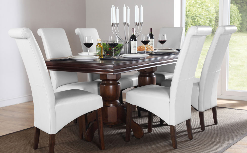 16. Java Dark Wood Extending Dining Table With 4 Java Chairs Within Widely Used Dark Wood Dining Tables 6 Chairs (Gallery 15 of 20)