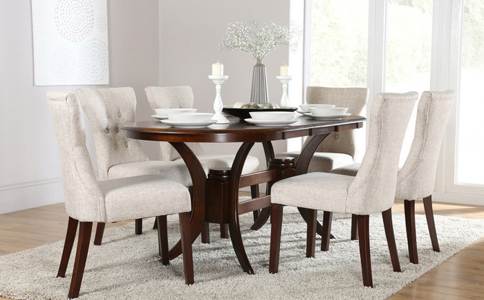 16. Oak Dining Room Set With 6 Chairs Gorgeous Oval Dining Table For For Most Current Oval Oak Dining Tables And Chairs (Gallery 17 of 20)