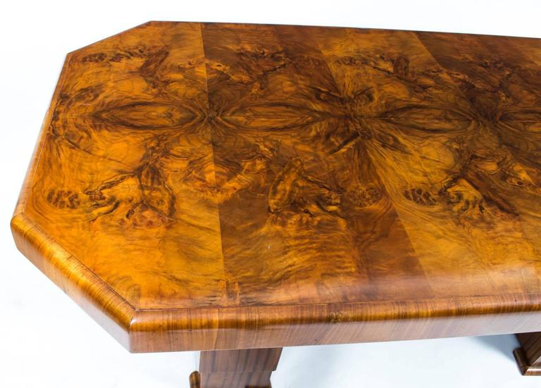 1930s Art Deco Burr Walnut Dining Table Six Chairs For Sale At 1stdibs For 2017 Walnut Dining Table Sets (View 18 of 20)