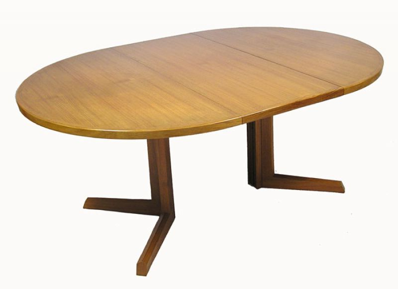 1960/70s Round Teak Dining Table *niels O (View 17 of 20)