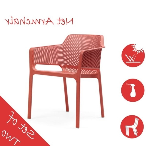 [%2 Pack] Net Outdoor Arm Chair – Coral (Uv Resistant, Italian Made In Most Recent Cora Ii Arm Chairs|Cora Ii Arm Chairs Regarding Latest 2 Pack] Net Outdoor Arm Chair – Coral (Uv Resistant, Italian Made|Most Current Cora Ii Arm Chairs Intended For 2 Pack] Net Outdoor Arm Chair – Coral (Uv Resistant, Italian Made|Well Known 2 Pack] Net Outdoor Arm Chair – Coral (Uv Resistant, Italian Made Inside Cora Ii Arm Chairs%] (View 1 of 20)