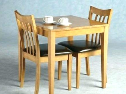 2 Seat Kitchen Table Set 2 Table And Chairs Solid Wood Dining Room In Most Recently Released Dining Table Sets For (View 16 of 20)