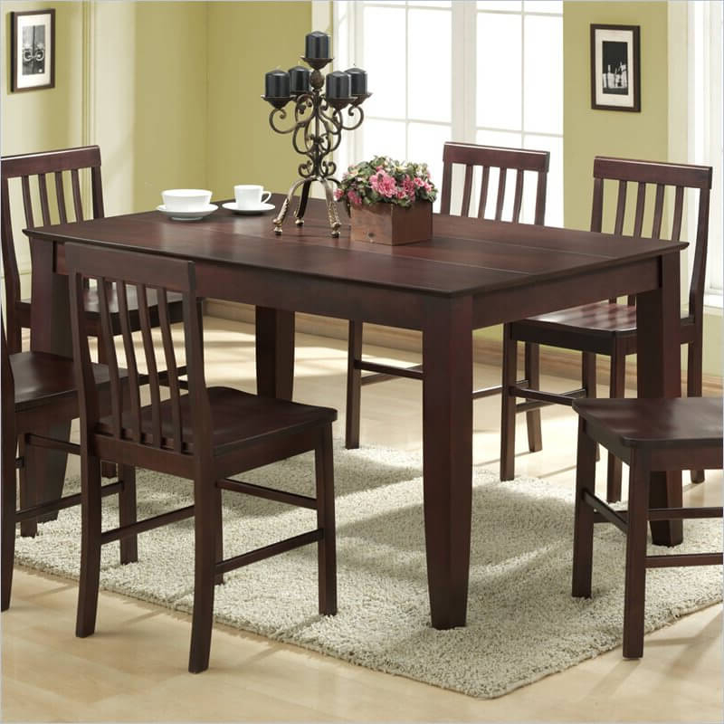 2017 20 Wood Rectangle Dining Tables That Seats 6 Under $500 Pertaining To Solid Dark Wood Dining Tables (View 13 of 20)