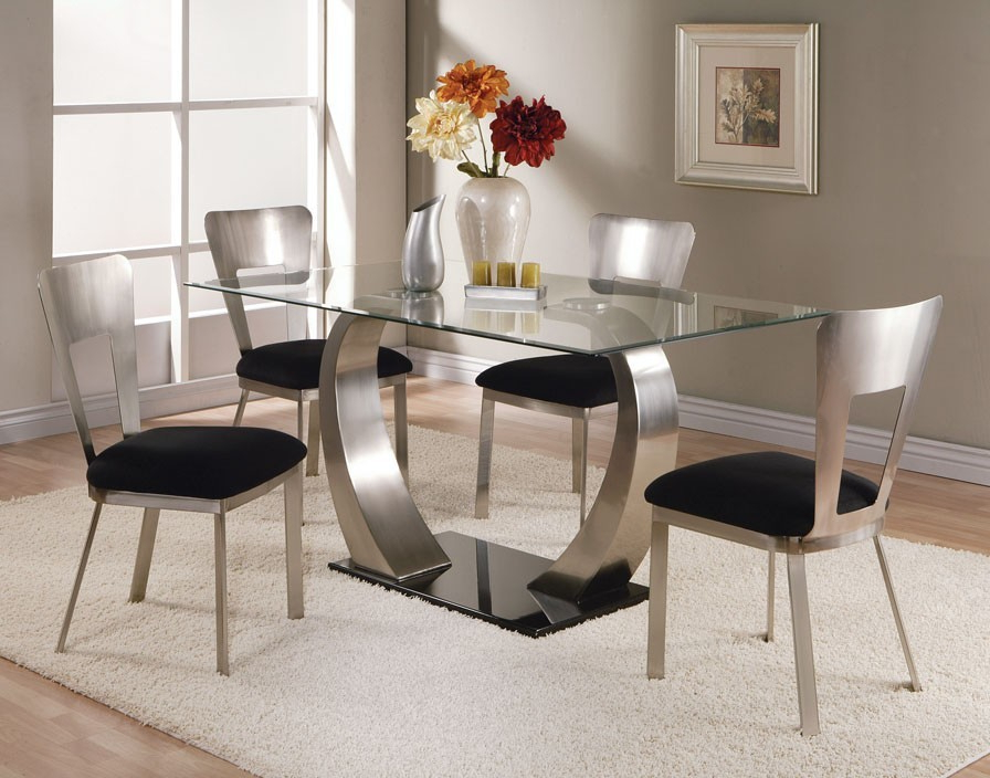 2017 4 Optimal Choices In Glass Dining Table And Chairs – Blogbeen Regarding Dining Room Glass Tables Sets (Gallery 7 of 20)