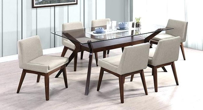 2017 6 Seat Dining Table 6 Dining Set 6 Dining Room Sets Bliss Marble Top Within Glass Dining Tables 6 Chairs (View 14 of 20)
