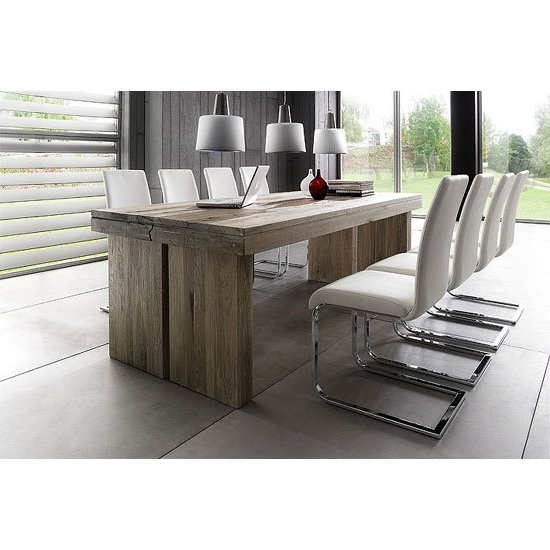 2017 8 Seater Dining Tables And Chairs Inside Dublin 8 Seater Dining Table In 220Cm With Lotte Dining (View 1 of 20)