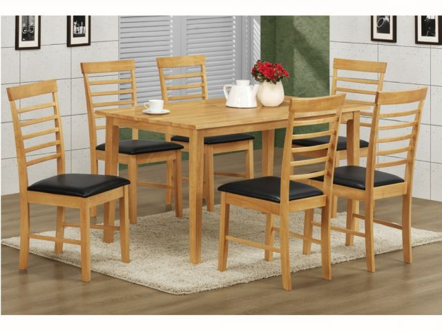 2017 Annaghmore Agencies Hanover Light Oak 1.4M Dining Set With 6 Chairs Pertaining To Light Oak Dining Tables And 6 Chairs (Gallery 10 of 20)