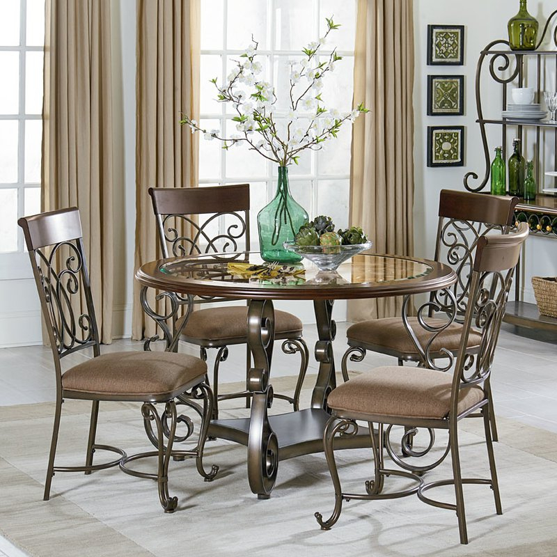 2017 August Grove Goldenrod 5 Piece Dining Set & Reviews (Gallery 13 of 20)