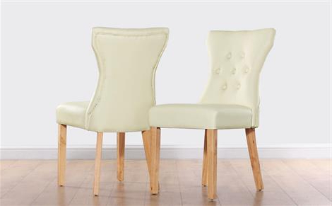 2017 Bewley Ivory Leather Button Back Dining Chair (Wenge Leg) Only Inside Cream Leather Dining Chairs (Gallery 6 of 20)
