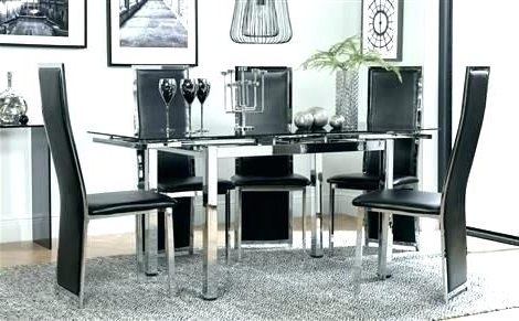 2017 Black Glass Dining Tables 6 Chairs Within Glass Dining Table Set 6 Chairs Ass Dining Table 6 Chairs Chair (View 12 of 20)