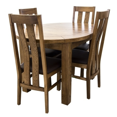 2017 Bordeaux Dining Tables Inside Bordeaux Small D End Dining Table & Four Chairs (View 2 of 20)