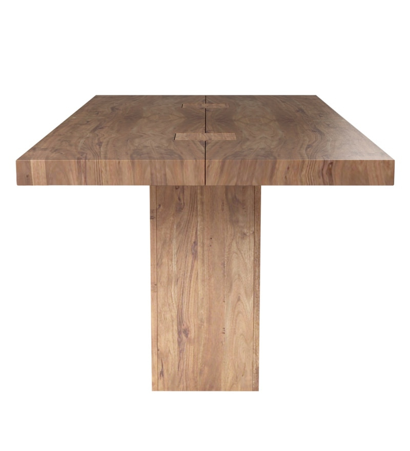 2017 Buy Portland Solid Wood Six Seater Dining Table In Premium Acacia Pertaining To Portland 78 Inch Dining Tables (Gallery 19 of 20)