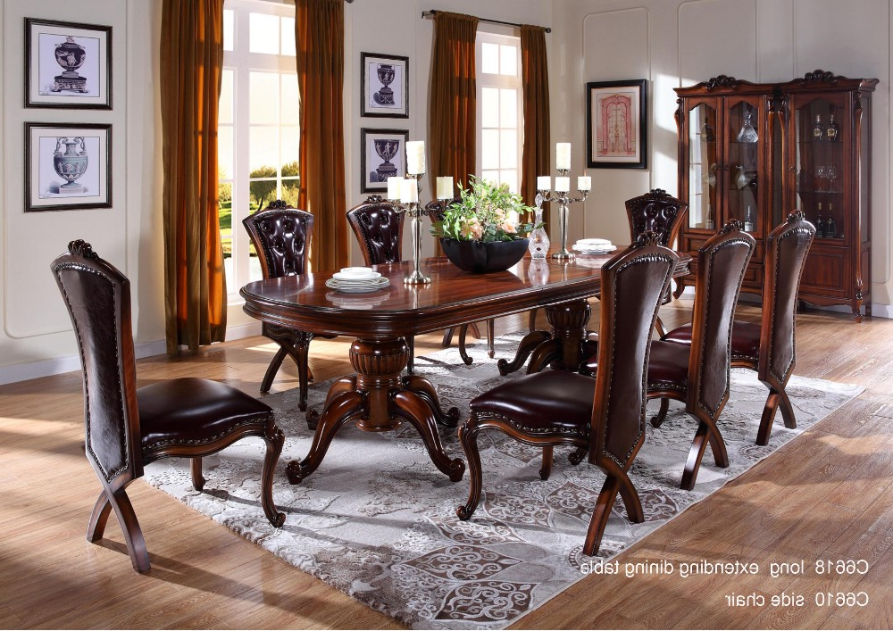 2017 C6618 Wooden Traditional Indian Dining Table,dining Room Furniture Pertaining To Indian Dining Tables (Gallery 5 of 20)