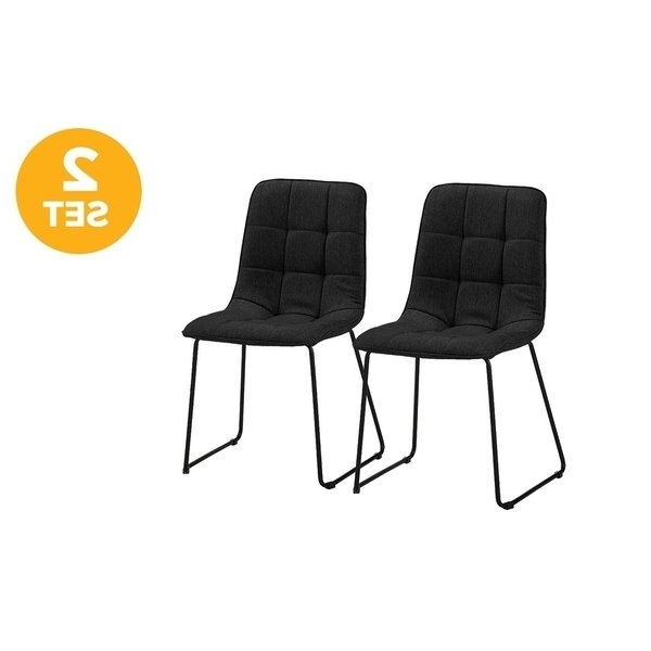 2017 Caira Black 7 Piece Dining Sets With Arm Chairs & Diamond Back Chairs Inside Shop 2 Pc Set Of Fabric Lined Dining Chairs – Free Shipping Today (View 5 of 20)