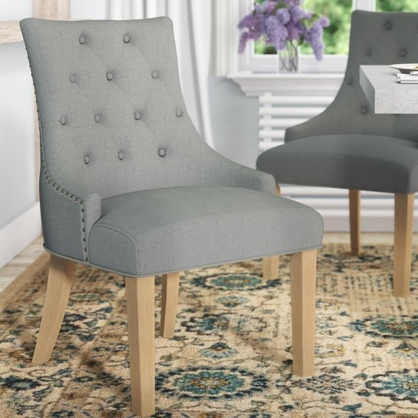 2017 Caira Upholstered Diamond Back Side Chairs Throughout Wingback Hostess Dining Chairs (View 8 of 20)