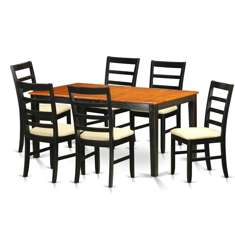 2017 Chandler 7 Piece Extension Dining Sets With Wood Side Chairs With Regard To August Grove Pillar 7 Piece Wood Dining Set (View 1 of 20)
