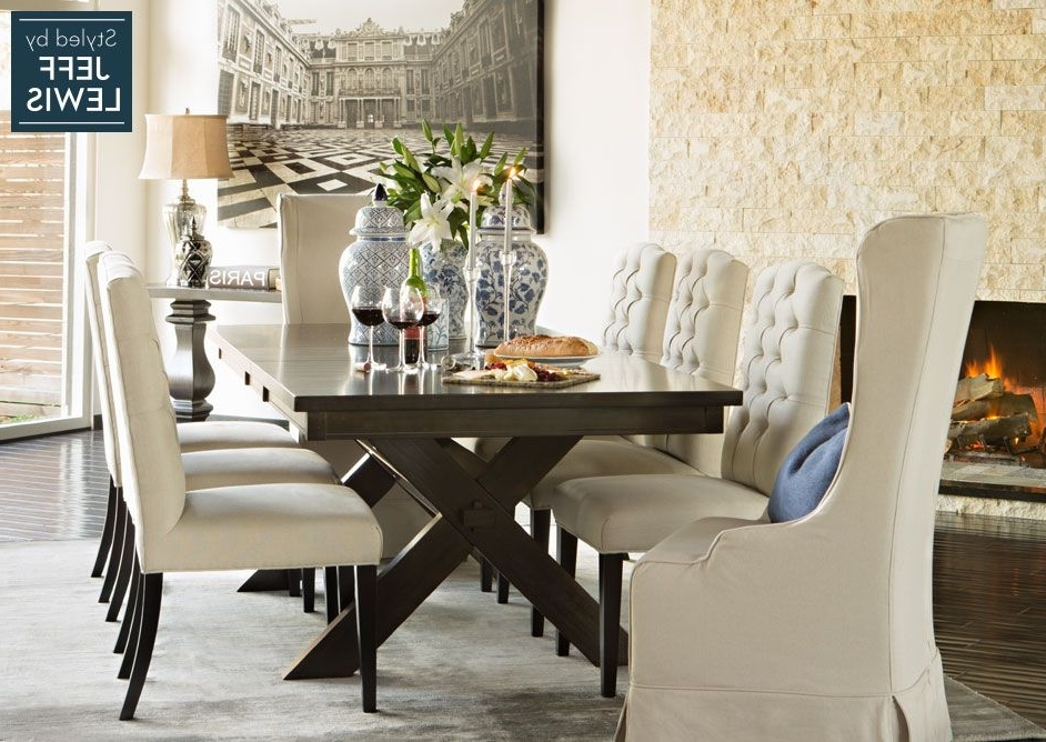 2017 Chapleau Ii 9 Piece Extension Dining Tables With Side Chairs With Dining Room Living Spaces: Laidback Luxury Styledjeff Lewis (View 1 of 20)