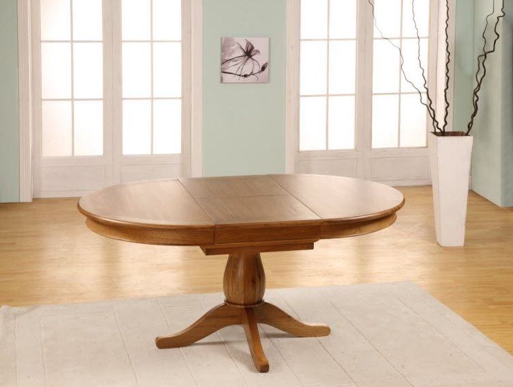 2017 Chateau Oak Round To Oval Extending Dining Table – 1150 1650mm Inside Round Dining Tables Extends To Oval (View 2 of 20)