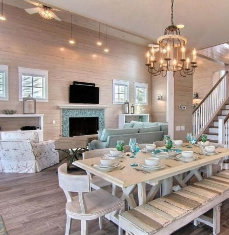 2017 Coastal Dining Tables Regarding Coastal Dining Room Ideas – Www.cheekybeaglestudios (Gallery 5 of 20)