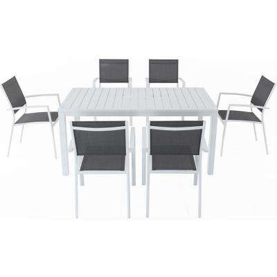 2017 Crawford 7 Piece Rectangle Dining Sets Within Cambridge – Patio Dining Sets – Patio Dining Furniture – The Home Depot (Gallery 15 of 20)