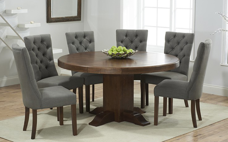 2017 Dark Wood Square Dining Tables Throughout Dining Tables: Inspiring Dark Wood Dining Table Contemporary Dark (Gallery 10 of 20)
