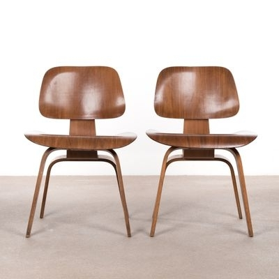 2017 Dcw Walnut Plywood Dining Chaircharles & Ray Eames For Herman Intended For Plywood & Metal Brown Dining Chairs (View 16 of 20)